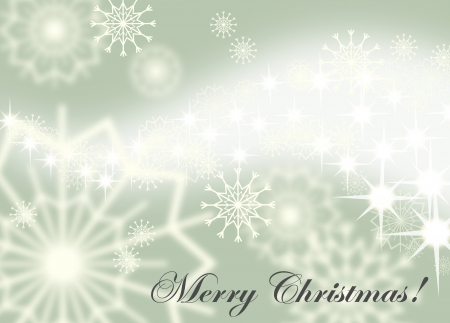 Christmas background with white snowflakes and fireworks, EPS10  Vector