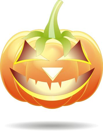 Scary Jack O Lantern halloween pumpkin with candle light inside Stock Vector - 15404868