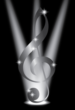 abstract music background with musical key