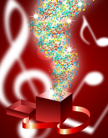 single songs: abstract music background with musical notes Illustration