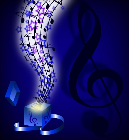 abstract music: abstract music background with musical notes Illustration