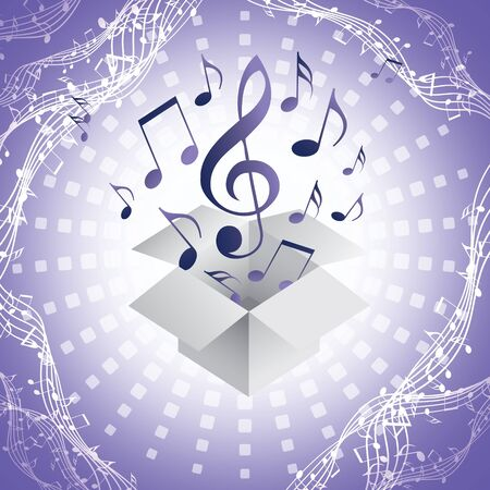 abstract music background with musical notes, EPS10 Vektorové ilustrace