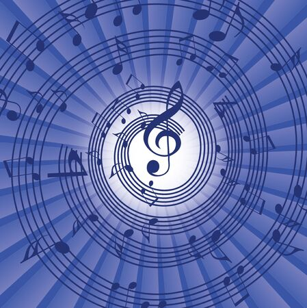 abstract music background with musical notes, EPS10 Vector