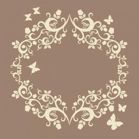 jachere: brun ou en friche belle illustration de la d�coration florale pour votre conception Illustration