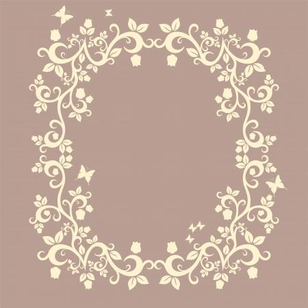 jachere: brun ou en jach�re belle illustration de l'ornement floral pour votre conception