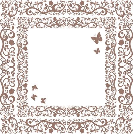jachere: brun ou en friche belle illustration de l'ornement floral pour votre conception Illustration