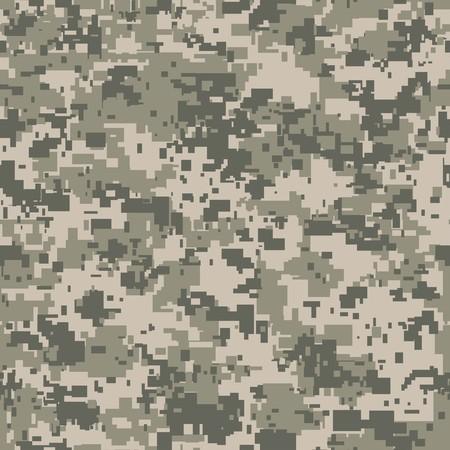 あなたのデザインのためのデジタル ピクセル迷彩シームレスなパターン。ベクトル テクスチャ  イラスト・ベクター素材