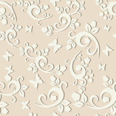 floral ornaments: elegant floral vintage seamless pattern background for your design