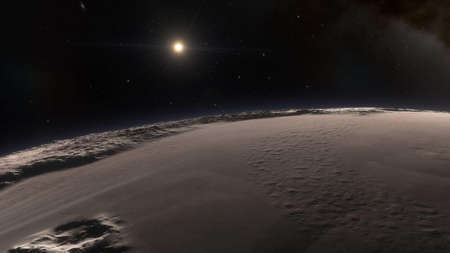 Universe filled with stars. Cosmic landscape, beautiful science fiction illustration with endless deep space. 3D rendering