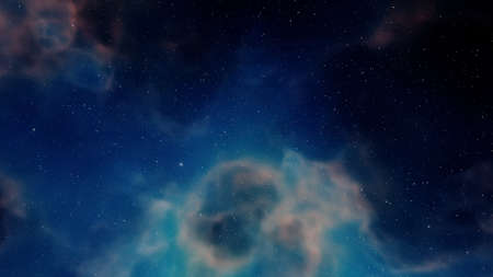 nebula gas cloud in deep outer space, science fiction illustrarion, colorful space background with stars 3d render Zdjęcie Seryjne - 162210801