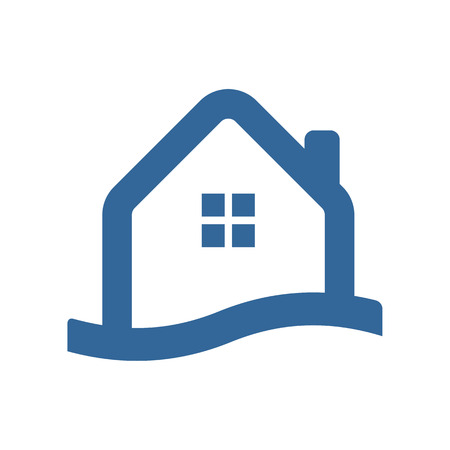 Waterfront House Simple Icon