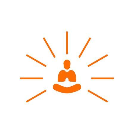 Creative Abstract Simple Light Yoga Meditation Illusztráció