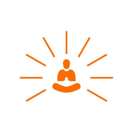 Creative Abstract Simple Light Yoga Meditation Vettoriali