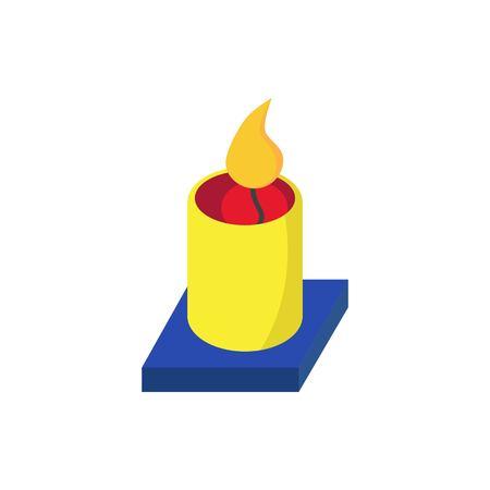 Aromatherapy Candle Vector illustration. Illustration