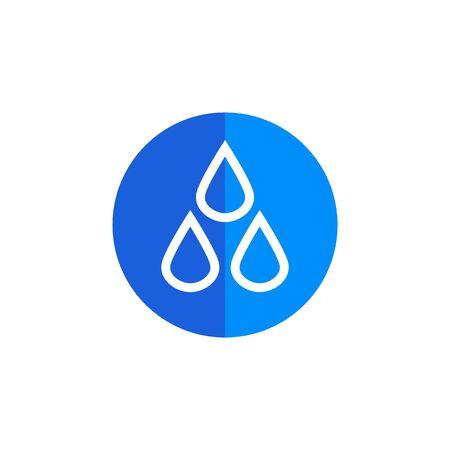 Triplet Water Circle vector illustration
