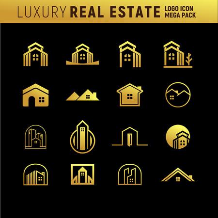 Luxury Real Estate icon. Illustration