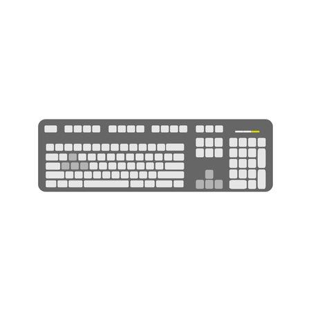 Grey Keyboard Device Vector Graphic Illustration Design Illustration