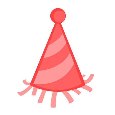 Colored Party Hat Vector Graphic Illustration Design