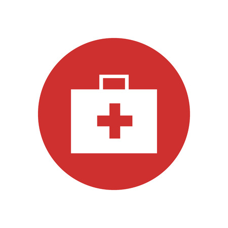 First Aid Kit Bag Icon Vector Graphic Illustration Design