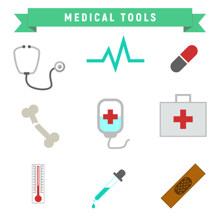 Simple Medical Tools Package Vector Graphic Illustration Design