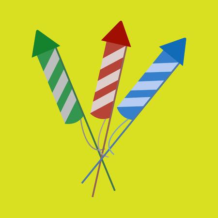 Simple Firework Explosives Vector Graphic Illustration Design