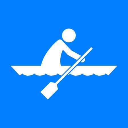 Canoe Sport Figure Symbol Vector Illustration Graphic Design Vettoriali