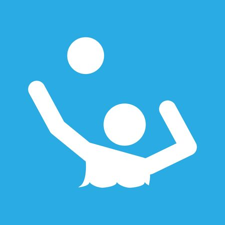 Water Volleyball Sport Figure Symbol Vector Illustration Graphic Design