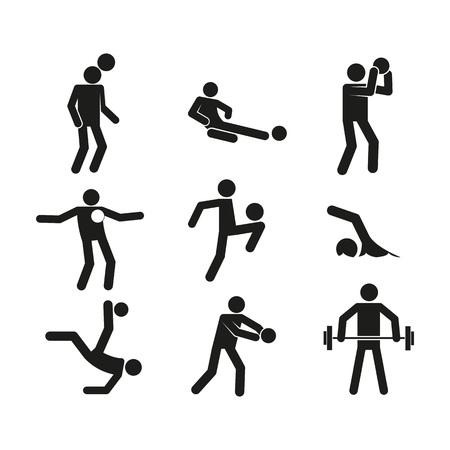 Sport Abstract Figure Symbol Vector Illustration