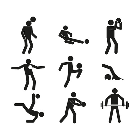 Sport Abstract Figure Symbol Vector Illustration