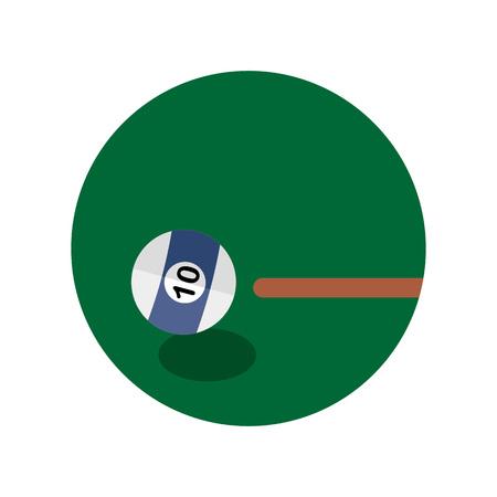 Billiard Game Shot Emblem Sport Vector Illustration Graphic Design