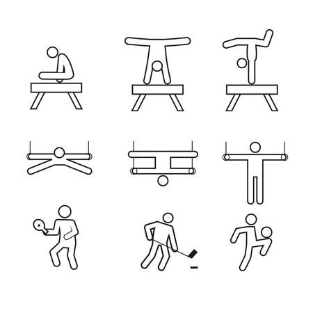 Symbole de figure de contour gymnastique sport abstrait. Conception graphique de Vector illustration. Banque d'images - 92521992
