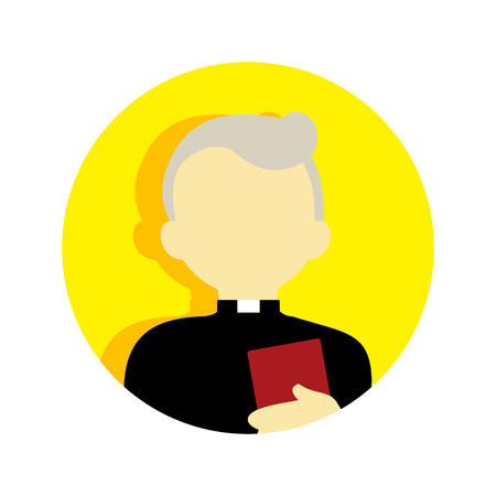 Old Religious Pastor People Vector Illustration Graphic Design