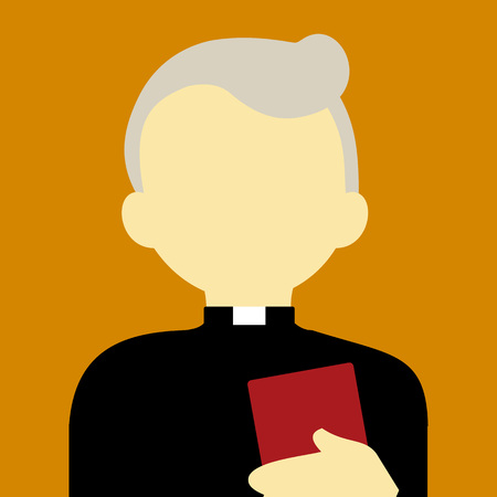 Old Religious Pastor People Vector Illustration Graphic Design Background Color
