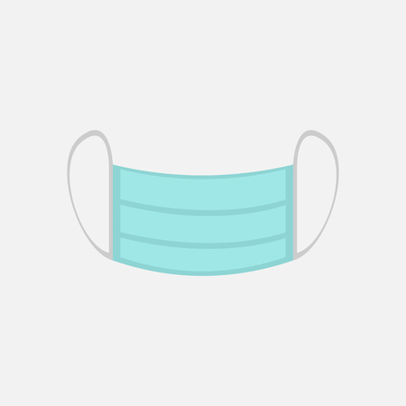 Simple Surgical Mask Vector Illustration Graphic Design