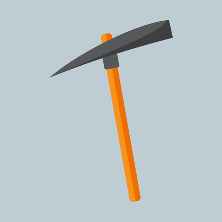 Simple Flat Style Pickaxe Mining Vector Illustration Graphic Design.