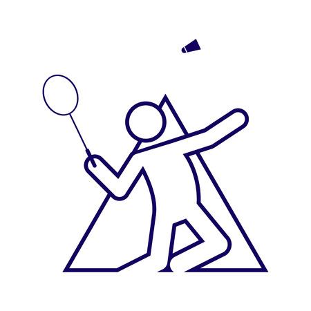 Triangle Shape Badminton Sport Figure Outline Symbol Vector Illustration Graphic Design Illustration