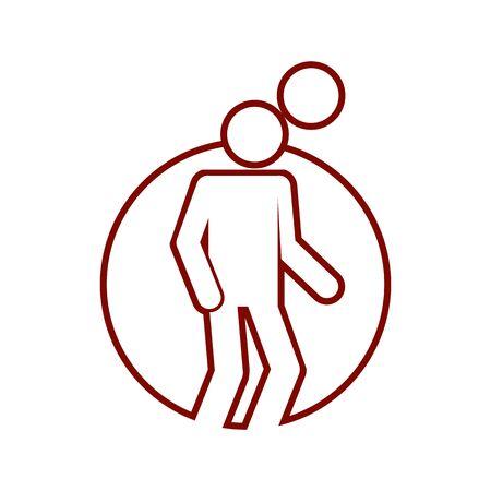 Circle Shape Heading Football Soccer Sport Outline Figure Symbol Vector Illustration Graphic Design Illustration
