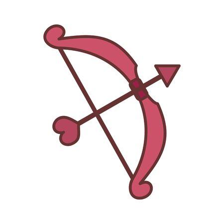 Cupid Love Bow Vector Illustration Graphic Design