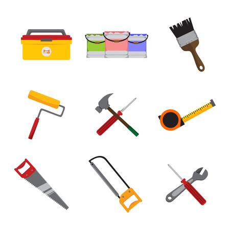 Simple Home Repair Intrument Tools Vector Illustration Graphic Design
