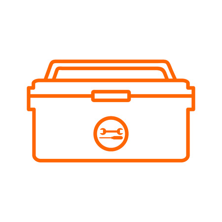 Outline Tool Box Storage Drawing Vector Illustration Graphic Design.