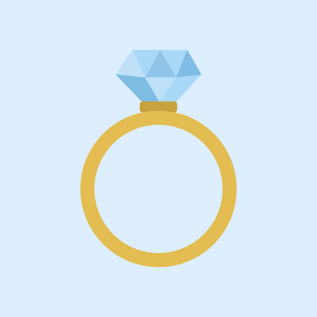 Wedding Diamond Ring Vector Illustration Graphic Design