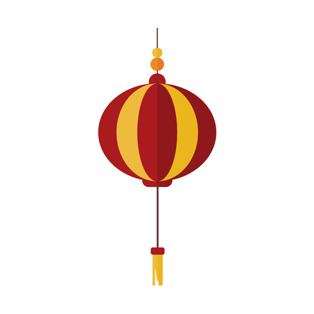 Simple Gold Red Chinese Lantern Vector Illustration Graphic Design Illustration