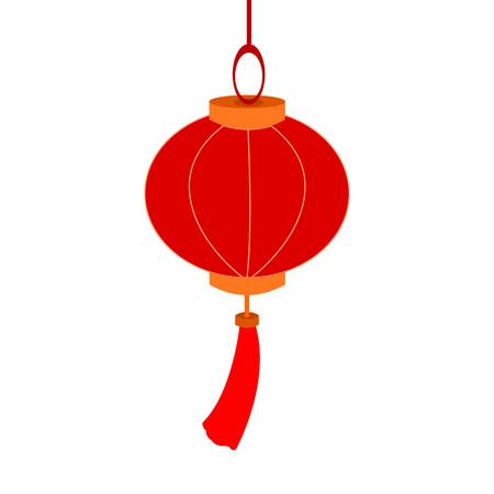 Hanging Decoration Chinese Lantern Paper Vector Illustration Graphic Design
