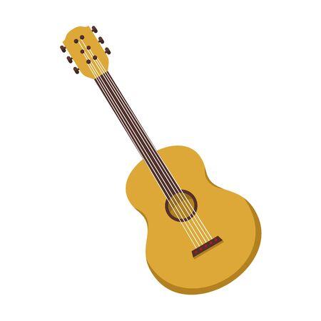 Simple Acoustic Guitar Vector Illustration Graphic Design Illustration