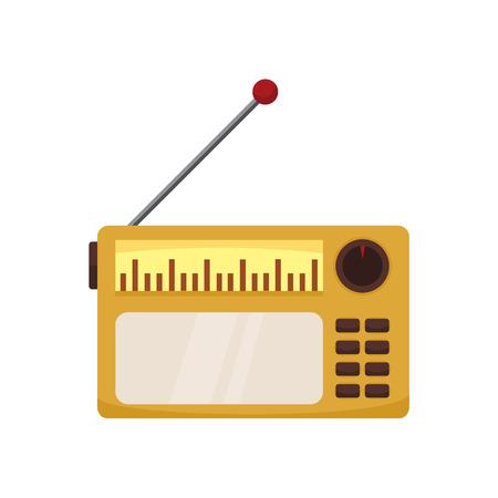 Classic old radio. Vector illustration graphic design. Illustration