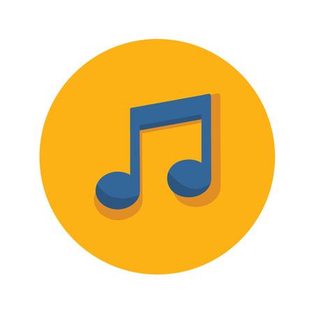 Musical note icon. Vector illustration graphic design. Illustration