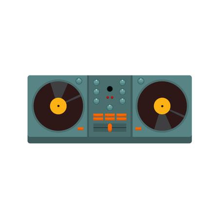 Double Turntable Disc Jockey Vector Illustration Graphic Design
