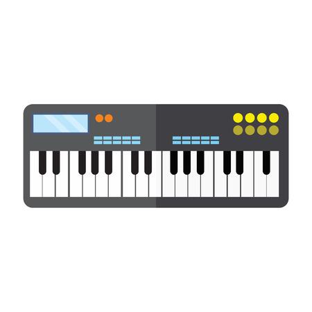 Keyboard Piano Instrument Vector Illustration Graphic Design
