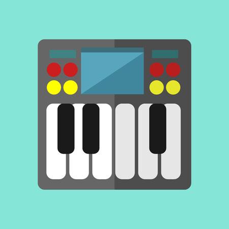 Synthesizer Keyboard Vector Illustration Graphic Design Illustration
