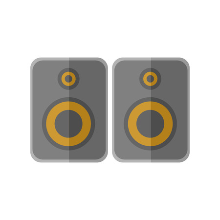 Stereo Studio Speakers Vector Illustration Graphic Design
